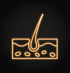 Neon human skin icon in line style vector
