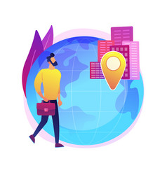 Occupational migration abstract concept vector