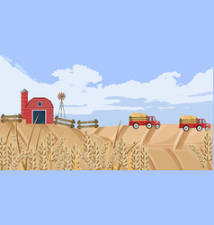 old farm house fall season background vector image