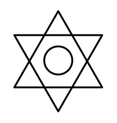 Pentagram thin line icon six pointed star vector