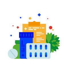 prescription drugs a variety of medications vector image