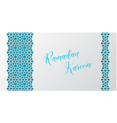 Ramadan kareem greeting poster or banner vector