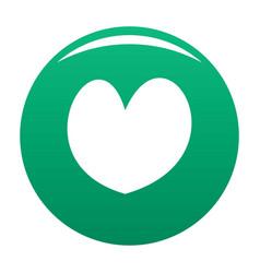 Reliable heart icon green vector