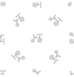 retro tricycle pattern seamless vector image