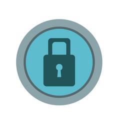 security protection padlock keyhole close symbol vector image