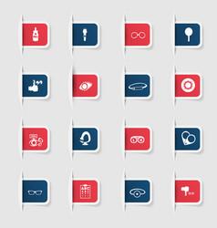 Set a collection unique paper stickers optics vector