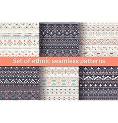 Set six ethnic seamless patterns vector