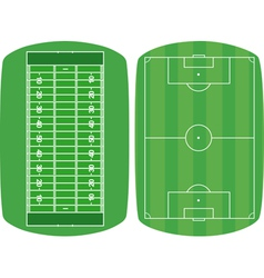 set sport fields vector image
