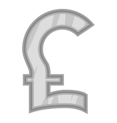 Sign pound sterling icon black monochrome style vector image