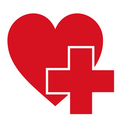 sign symbol health logo hospital red cross vector image