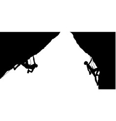 silhouettes of a climberss vector image