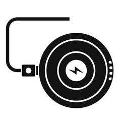 Smartphone wireless charger icon simple style vector