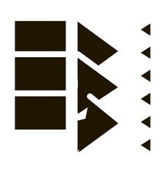 sound coming in door icon glyph vector image