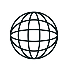 sphere planet isolated icon vector image