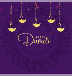 Stylish diwali festival greeting design background vector
