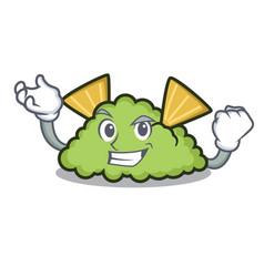Successful guacamole character cartoon style vector