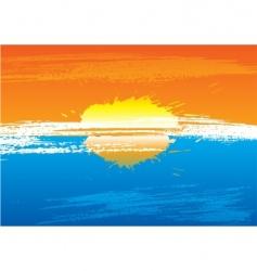 sunset grunge vector image
