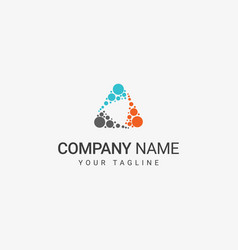 triangle dot shape logo vector image