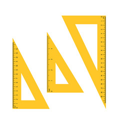 triangle measuring rulers vector image