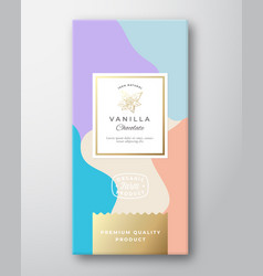 vanilla chocolate label abstract packaging vector image