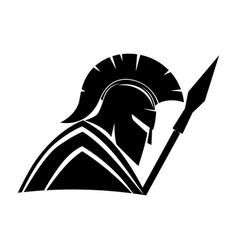 warrior with shield and spear vector image