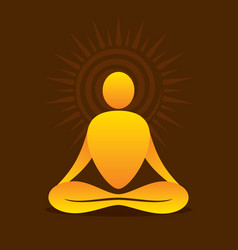yoga pose design vector image