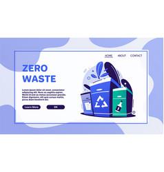 Zero waste lifestyle flat vector