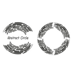 abstract background logo circles with lines vector image