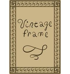 Decorative vintage frame Greeting Card or Poster vector image