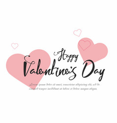 valentines day party flyer background vector image vector image
