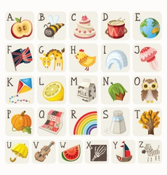 Alphabet for children vector image vector image