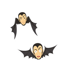 count dracula flying as a bat vector image vector image