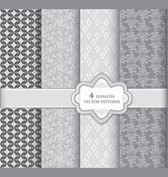 Floral pattern set geometric fabric seamless vector