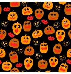 Halloween seamless pattern with Pumpkin silhouette vector image vector image
