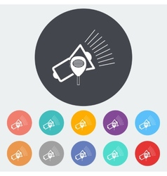 Megaphone single icon vector image vector image
