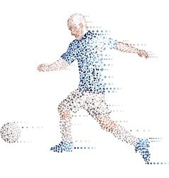 Abstract modern dots football soccer player kick vector image vector image