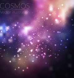 cosmos with stars and galaxy vector image