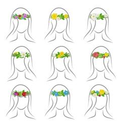 flower wreaths set vector image