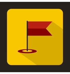 Locator flag icon in flat style vector image