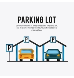Parking lot design Park icon White background vector image