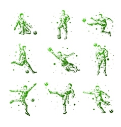 Set of abstract football players Isolated vector image vector image
