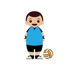 Cartoon volleyball player vector image
