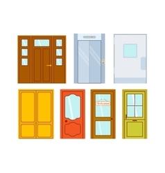 Doors isolated vector image