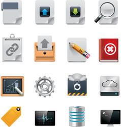 file server administration icon set vector image