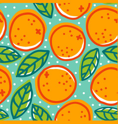 retro pattern with oranges vector image