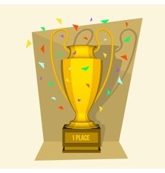 Abstract creative trophy cup Isolated mockup on vector image