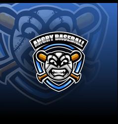 angry ball esport mascot logo vector image