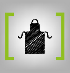 Apron simple sign black scribble icon in vector