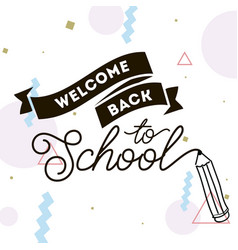 back to school typographic labels set vector image