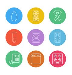 Blood medicine cancer beaker dna tablets vector